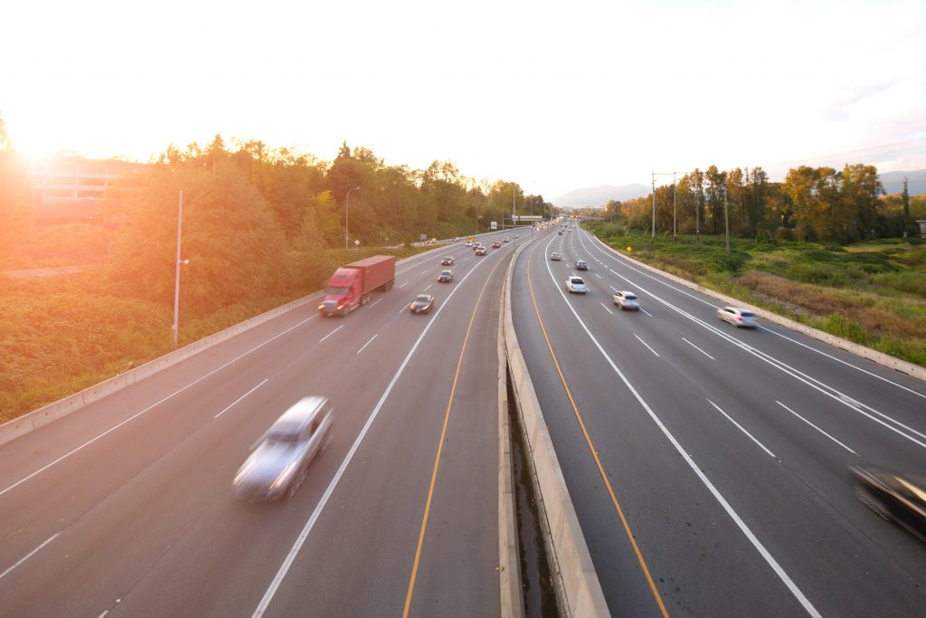 Picture of highway with cars